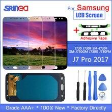 Для Galaxy J7 2017 сенсорный экран J730 J730f ЖК дисплей для samsung J7 Pro дигитайзер сборка регулируемая с клейкими инструментами
