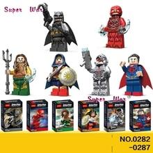 6 pcs Mulher Maravilha Superman superhero Justice League Batman Aquaman O Flash Victor Stone building blocks toy modelo para crianças