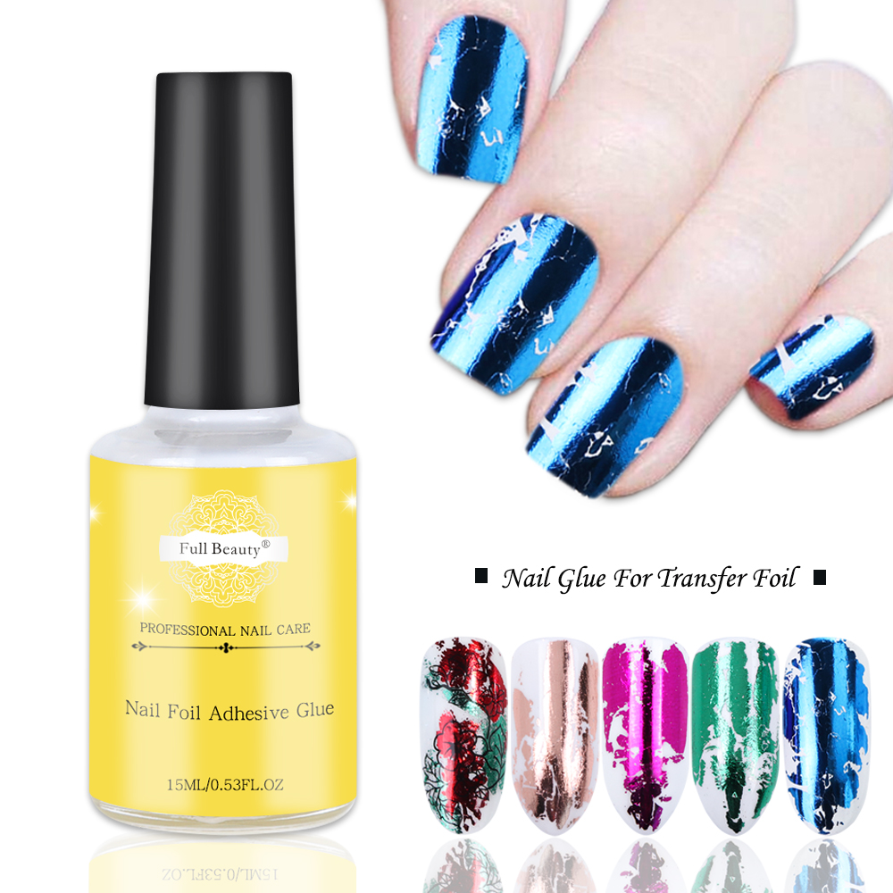 15ml Nail Glue For Transfer Foil Starry Stickers No Need Curing UV Lamp Manicure Adhesive Nail Polish Gel Tips Accessories LA947