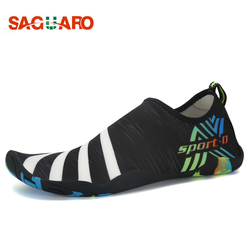 Men Women Beach Shoes Outdoor Swimming Water Shoes Adult Unisex Flat Soft Seaside Shoes  ...