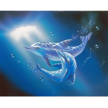 Cute dolphin diamond Embroidery diy painting mosaic diamant 3d cross stitch pictures H512