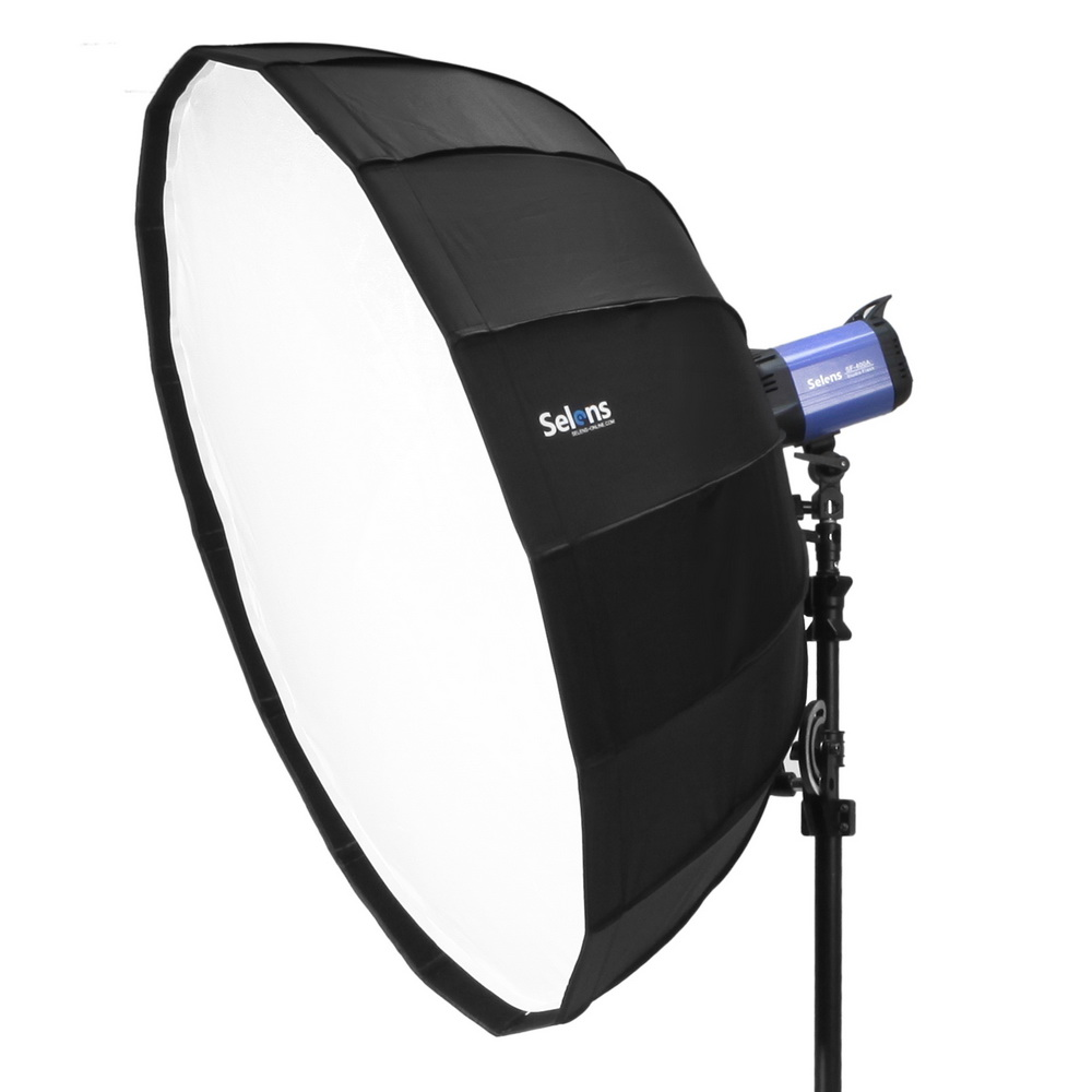 Universal Flash Reflector Diffuser Bounce Set With Carrying Pouch Selens 65cm Parabolic Umbrella Beauty Dish Softbox For Off Camera Fotografia Light