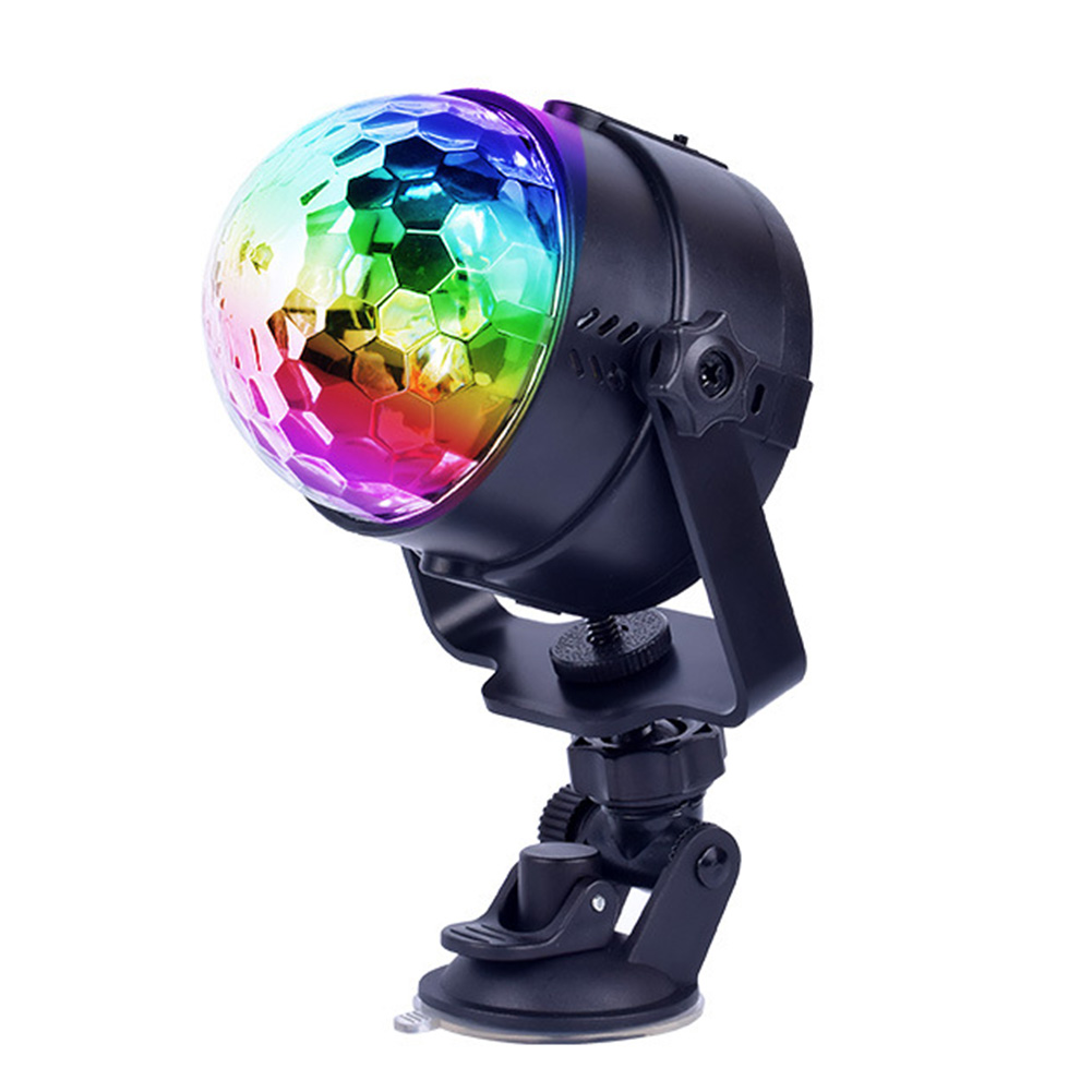 Crystal Magic Ball Disco Rotating Party Car Music Led RGB Remote Control Colorful Mini Stage LightCrystal Magic Ball Disco Rotating Party Car Music Led RGB Remote Control Colorful Mini Stage Light