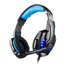 G9000 Game Headset Headphone Stereo Surround 2.2m Wired Headphone Voice Control with LED Light Usb For PC Laptop Smartphone