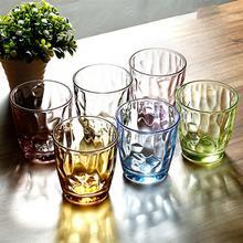 6 шт 310 мл цветные устойчивые к разбиванию чашки акриловые питьевые небьющиеся очки стаканы переработанные бокалы для вина