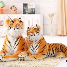 30-120CM High Quality Giant White Tiger Stuffed Toy Baby Lovely Big Size Tiger Plush Doll Soft Pillow Children Christmas Gift