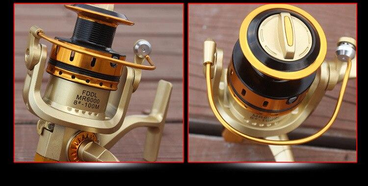 Full Metal Reel Rocker Arm Saltwater Fishing Reel Sea Rod Spinning Reels 10BB Baitcasting Fishing Reel Wheel Tackle Gear