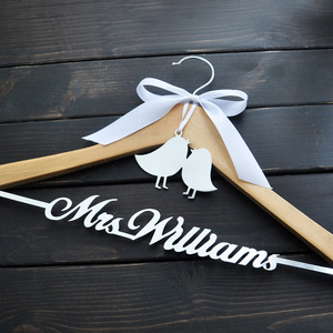 Image 3 - Personalized Wedding Hanger Bride Bridesmaid Groom Name Hanger With Bow Wedding Gifts Bridal Dress Hanger 3 Style