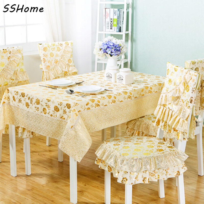 Dining Table Cloth Chair Covers Table Mat Set Round Table