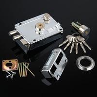 Mechanical Door Locks Chrome White Iron Zinc Key Exterior Door Locks Security Anti Theft Lock Multiple