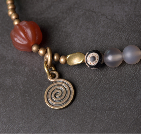 Red-Pumpkin-Agate-Mixed-Buddha-Eyes-Bead-bracelet-Tibetan-Buddhism-Zen-Healing-brass-beads-White-Grey-Agate-Friendship-Jewelry (12)