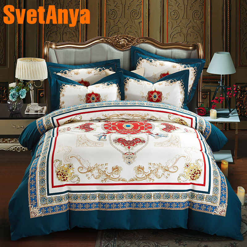 Svetanya Sheet Pillowcase Quilt Cover Set sanded Cotton Print Bedding Kit Double Queen King size Bedlinen Svetanya Sheet Pillowcase Quilt Cover Set sanded Cotton Print Bedding Kit Double Queen King size Bedlinen