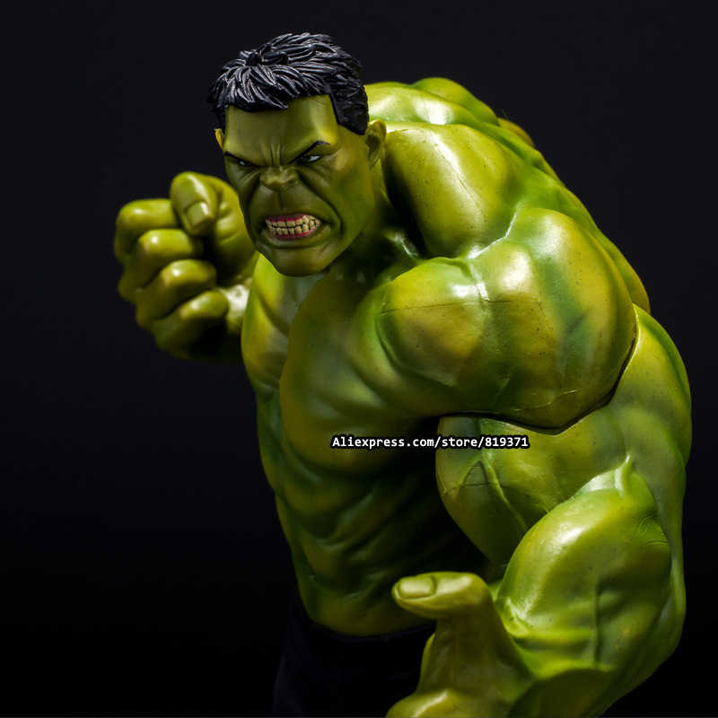 26cm Super Heroes The Marvel Avengers Select Movie Anger Hulk Action Figures Toys PVC Resin Plastic Model Statue Dolls Kids Toy