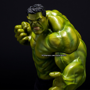 26cm Super Heroes The Marvel Avengers Select Movie Anger Hulk Action Figures Toys PVC Resin Plastic Model Statue Dolls Kids Toy(China)