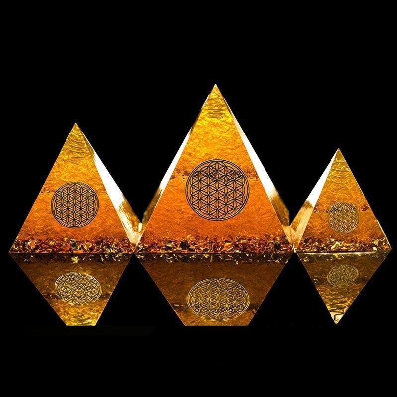 US $7 99 30% OFF|AURA REIKI Orgonite Pyramid Natural Citrine Energy  Generator Pyramid Transit Gathering Fortune Helping Business Decoration  Gift on