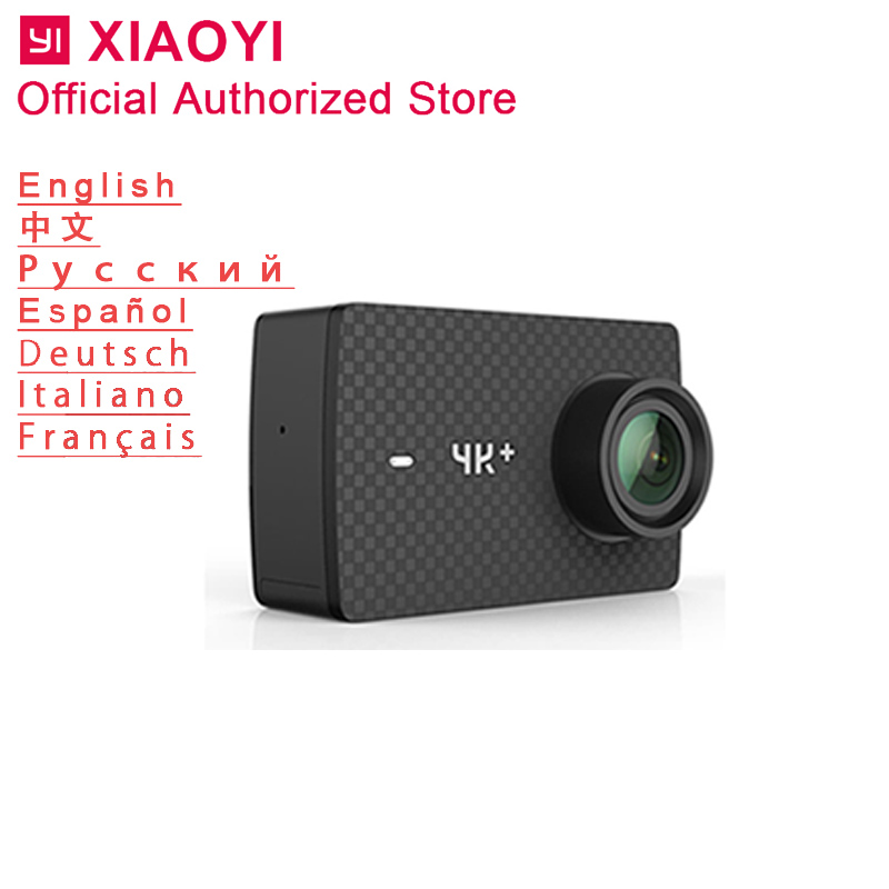 yi action camera 4K plus 60fps 4k+ sport outdoor ambarella H2 SONY IMX377 memory card support wide angle touch display xiaomi yi 4k action camera 2 ambarella a9se sony imx377 1400mah