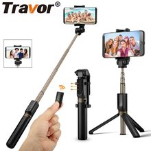 Travor Tripod Monopod Selfie Stick Bluetooth Portable Handheld Selfie Stick untuk Iphone Samsung Huawei Xiaomi Android Smartphone(China)