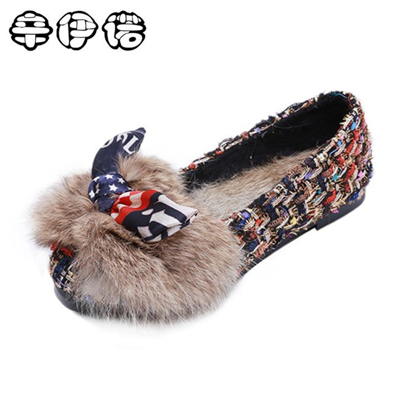 Female Warmer Plush Bowtie Fur Suede Rubber Flat Slip On Winter Ankle Snow Boots Women's Fashion Anti-skid Black Shoes fashion women ankle boots suede tassels snow boots female warm plush bowtie fur rubber flat silp on platform black shoes casual