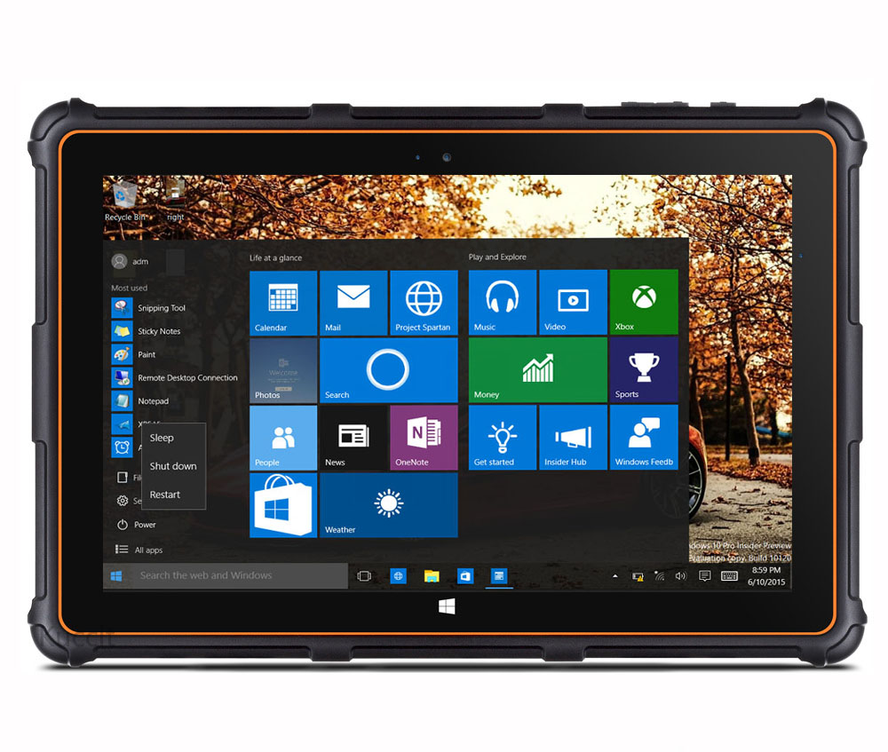 windows 10 rugged waterproof shockproof tablet pc phone ip68 8 screen quad core gps 4g. Black Bedroom Furniture Sets. Home Design Ideas