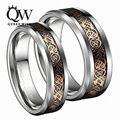 Queenwish Dropshopping 8 мм/6 мм Ирландский Claddagh Celtic Dragon Вольфрама Обручальные кольца Вечности Обручальные Кольца Для Пары Ювелирные Изделия