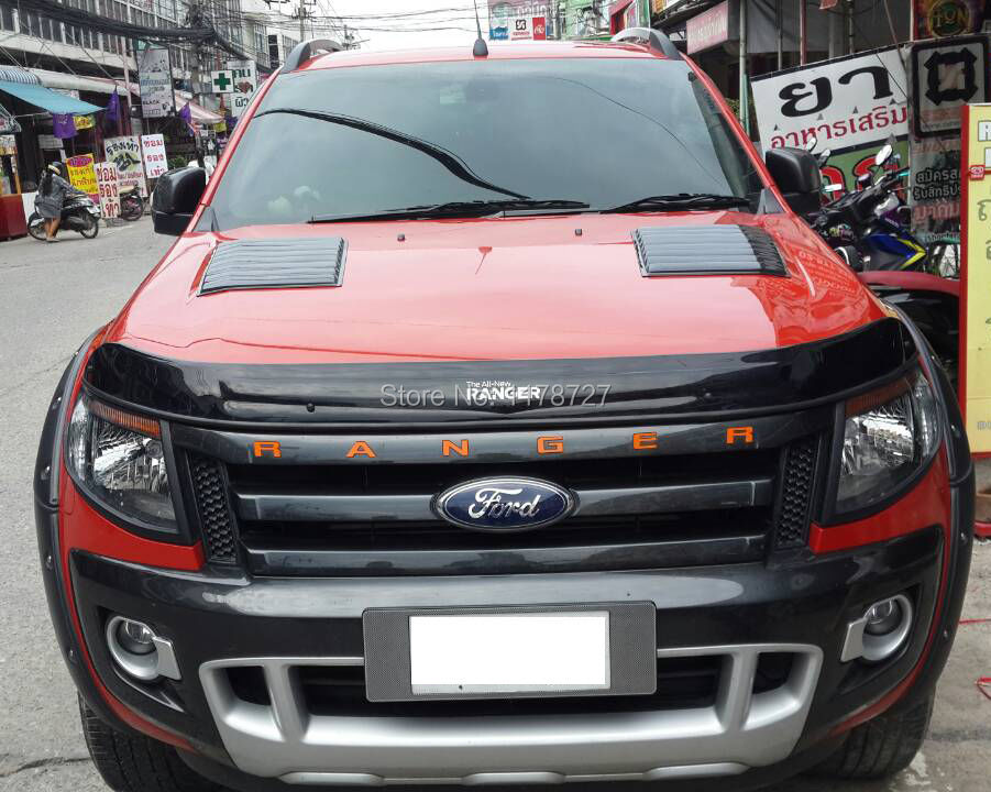 FREE SHIPING FOR 2012-2016+ RANGER T6 T7 BONNET HOOD SCOOP FOR FORD RANGER For Wildtrak Ford Ranger Mk1 Px 2012-2017 for 2004 2005 ford ranger vertical hood grill grille brand new chrome usa domestic free shipping hot selling
