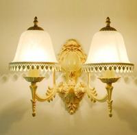 Style européen Blanc dentelle appliques murales de chevet lampes chambre salon allée lumières creative LED mur lampes