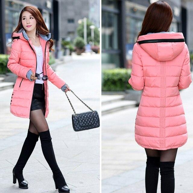 N.XINZHE 2017 Winter jacket women Coat Hooded Slim Wadded Parkas Wear Winter Coats Outwear for Lady chaqueta mujer  1
