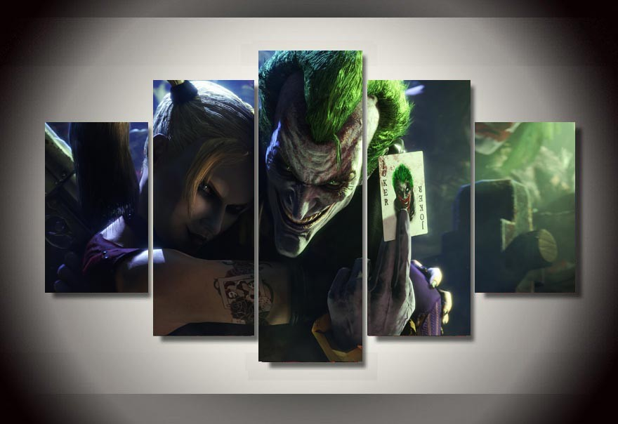 Canvas Wall Art Printed Joker And Harley Quinn Picture
