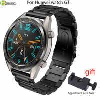 Correa de reloj de 22mm de acero inoxidable para Huawei Watch GT/GT2 honor magic correa de reloj de liberación rápida para Samsung Gear S3 pulsera + herramienta