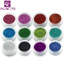 Kads 12 модные Цвет high gloss ногтей лазерной Косметическая пудра, блеск Косметическая пудра пыли для Дизайн ногтей, больше вариантов и переменчивой для ногтей