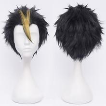 אנימה Haikyuu!! Nishinoya Yuu קצר שחור ובלונדינית חום עמיד שיער Cosplay תלבושות פאות + פאה חינם שווי