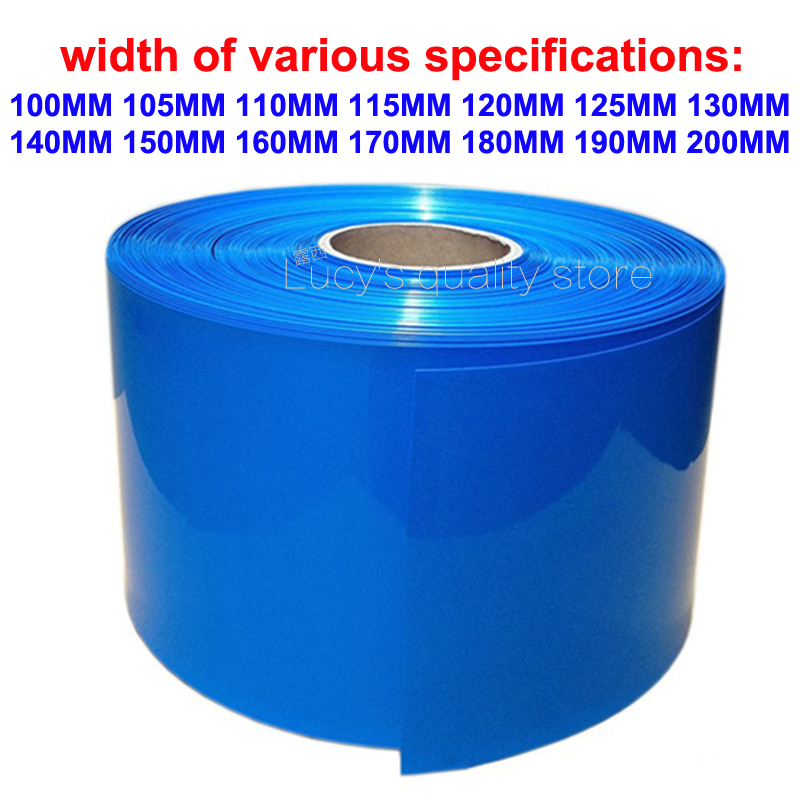 1M 18650 Lithium Battery Heat Shrinkable Sleeve Battery Cover Skin PVC Heat Shrinkable Film Shrink Skin Various Specifications