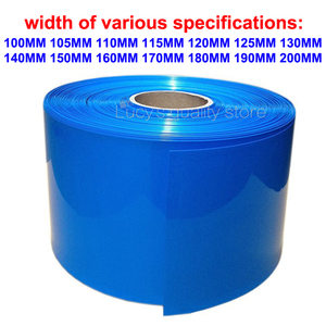 1M 18650 lithium battery heat shrinkable sleeve battery cover skin PVC heat shrinkable film shrink skin various specifications(China)