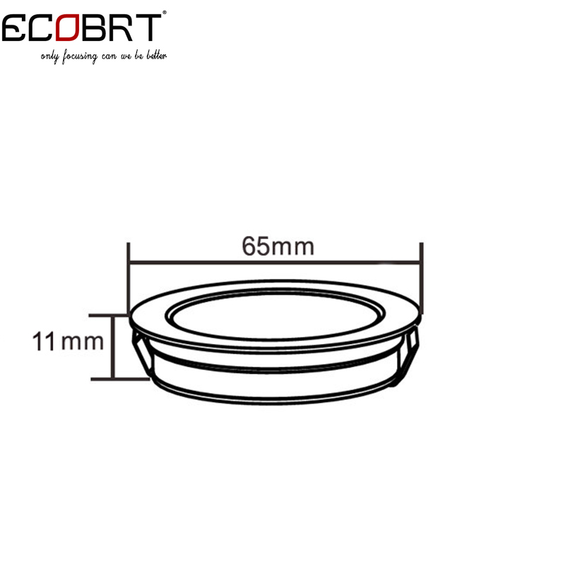 ECOBRT Dimmable 12V led Spot light Black recessed Round Under Cabinet lights 2W in Kitchen wine cabinet 6pcs lot in Spotlights from Lights Lighting
