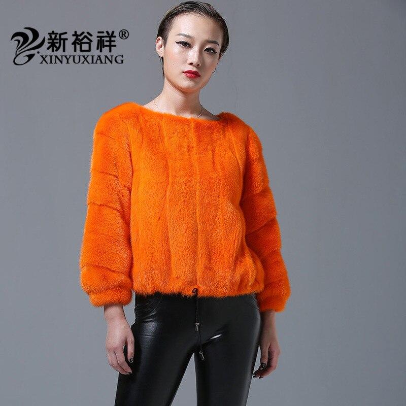 Casual Fourrure Manteaux Vestes Vison Pour Pleine Naturel Cordon Orange Orange O 2018 Nouveau 219b Cou Ourlet De Noir Femmes Pelt blanc Jaune jaune tAzqwp