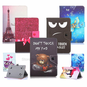 Cartoon Universal Cover Case For LG G Pad 7.0 V400 V410 7 Inch Tablet PU Leather Magnetic Stand Case For Kids 2 Gifts