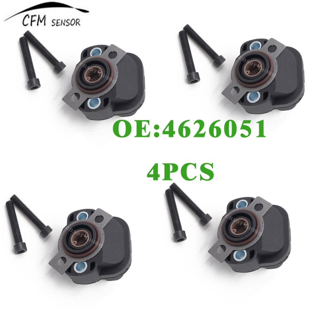 4pcs new throttle position sensor tps 4626051 fits jeep cherokee chrysler dodge plymouth china