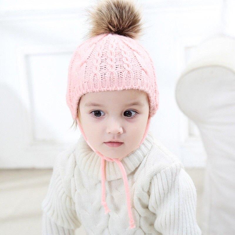 ed2b4529d4b Lovely Newborn Baby Girl Boy Toddler Kid Warm Crochet Earflap Beanie Winter  Soft Hat-in Hats   Caps from Mother   Kids on Aliexpress.com