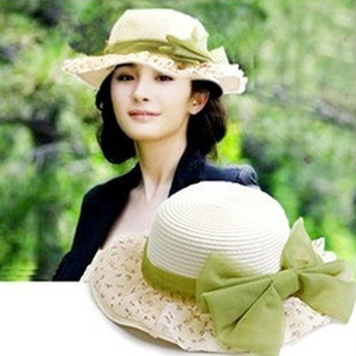 3287e7f7a5a Fashion Tea Party Hats Summer Women s Cool Wide Brim Straw Beach Sun Hat  Floppy Visor Cap Hats For Women Female viseira