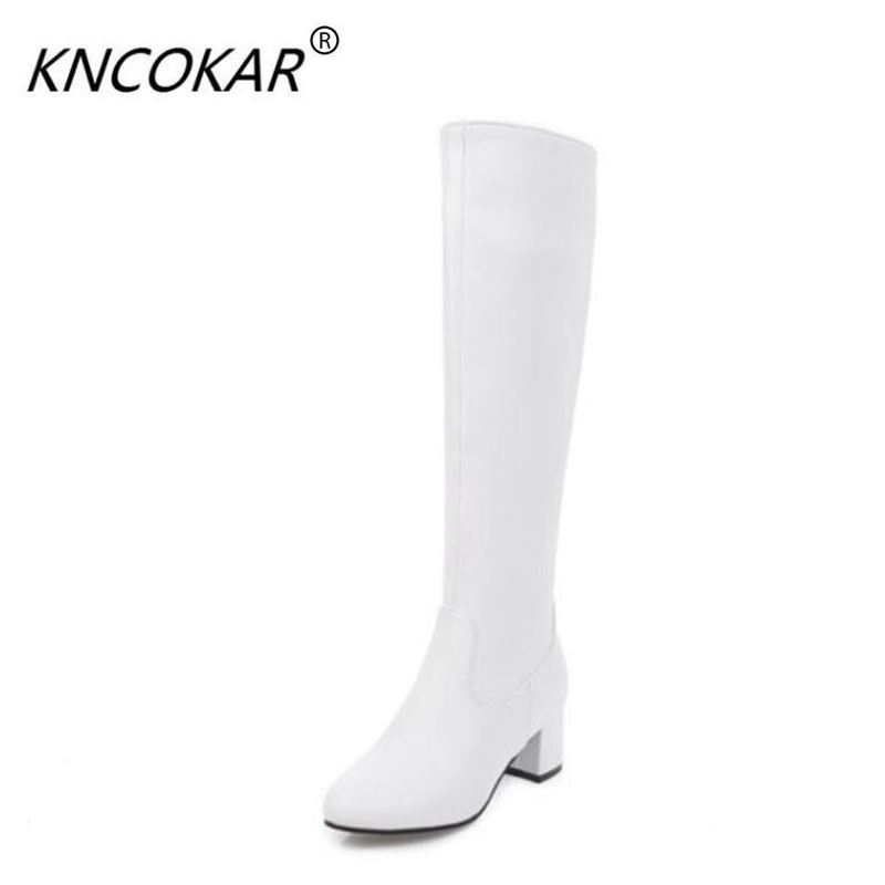 KNCOKAR The women's boots of the new knight boots in the autumn and winter of 2018 and the large size 35-45 women's boots цена 2017
