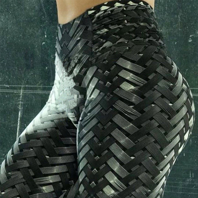 Leggings   Women New Hot Sales Irenweave   Leggings   Weaving Printed Tie Women Fitness Leggins Workout Scrunch Booty Leggins Mujer
