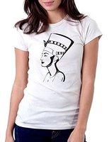 Women Tshirt Homme 2017 100 Cotton Short Sleeve O Neck Nefertiti Egyptial Queen Polyester T Shirts