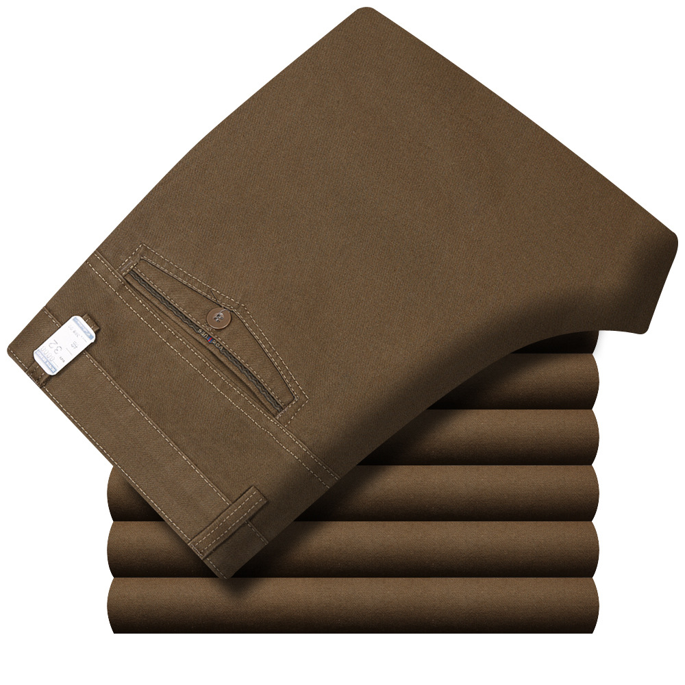 Осенне зимние мужские утепленные хлопковые теплые штаны мужские хлопковые мешковатые длинные брюки деловые прямые черные повседневные штаны для среднего возраста| |   | АлиЭкспресс