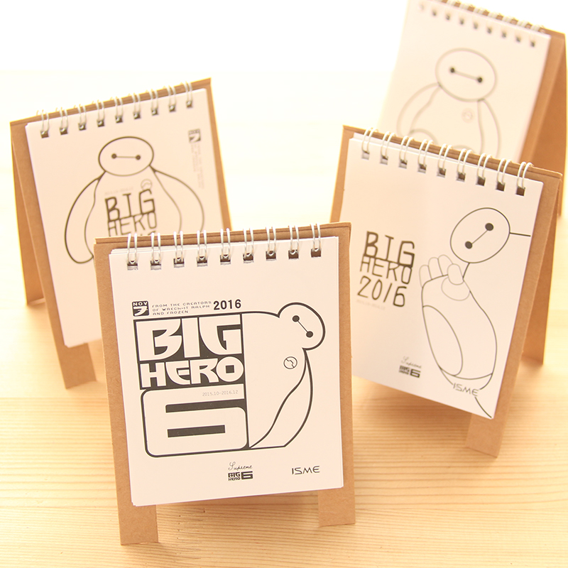 Table Calendar 2016 : Aliexpress buy pcs lot cute baymax table