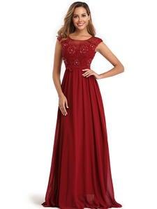 YIDINGZS Elegant Chiffon Formal Evening Dress Appliques Beading Long Party Dress 2020