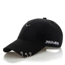 5f08552709291 BONJEAN solid Ring Safety Pin curved hats fashion hoop baseball cap women  men sun cap snapback