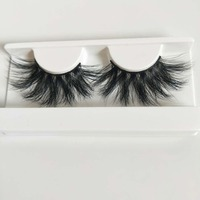 DEEP EYES 10 pairs of 10 boxesExtra long 25mm Mink Lashes 3D Mink 100%Handmade eyelashes
