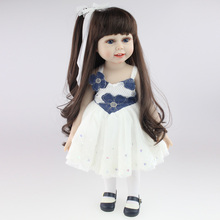 "18"" 45CM American Sweet Girl Doll Reborn Baby Dolls Full Handmade Full Vinyl Baby Toys Best Girls Gift DIY Bjd Sex Bjd Doll"