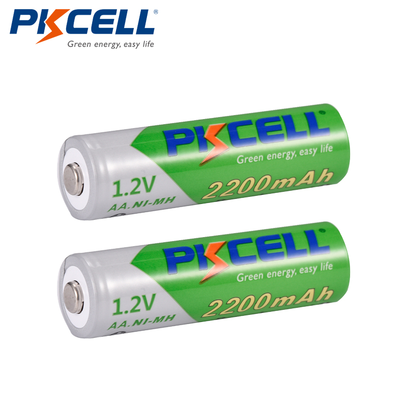 PKCELL Bateria Recarregavel AA NiMH Low Self-discharge Durable 1.2V 2200mAh Ni-MH Rechargeable Battery Batteries 2A Bateria