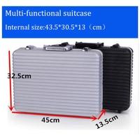 Portable Aluminium tool case toolbox file case Precision instrument box Multi function Equipment protection box with foam